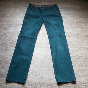 PrAna Green Corderoy Short Inseam Straight Pant 8